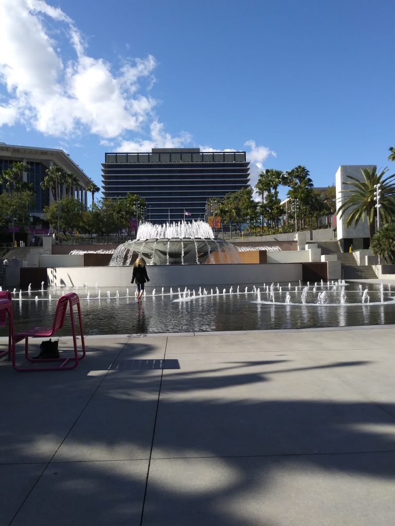 The fountain at Grand Park, LA