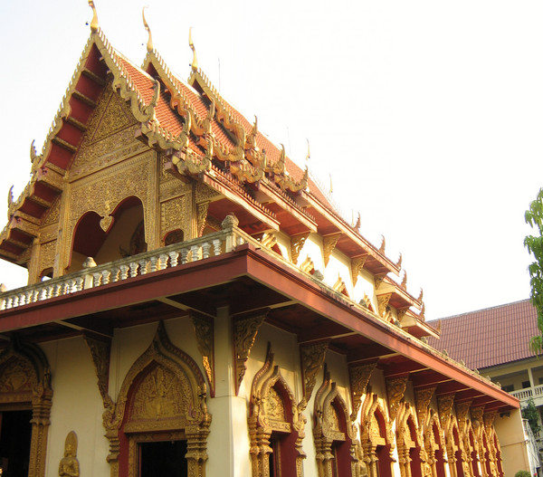A Thai wat with golden decorations